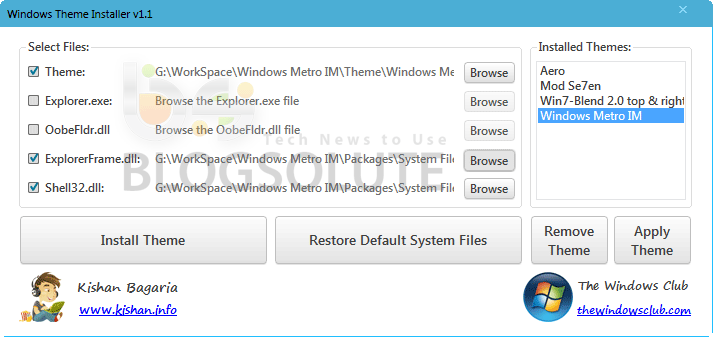 Windows 8 Theme Installer