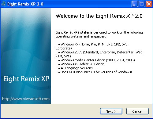 Windows 8 Transformation Pack for XP