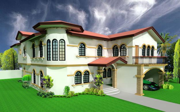 Build and design home interiors in 3d model with easy to 3d house building