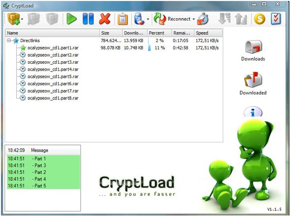 The beta version of the new JDownloader