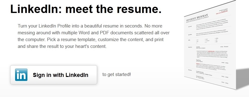 Create Resume From Linkedin Profile,Make A Resume From Linkedin ...