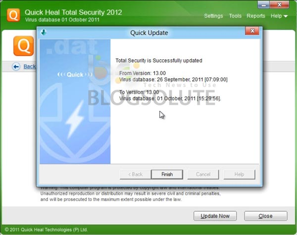 Quick Heal 2012 Updates Offline