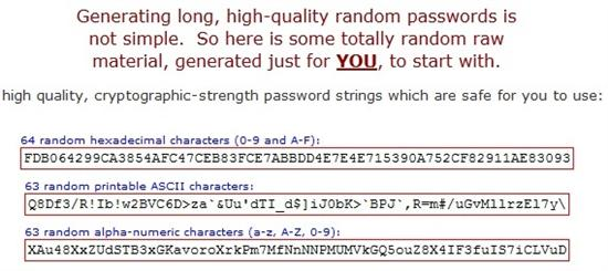 GRC password generator