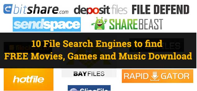 Search engine for file sharing sites