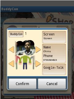 buddy con contacts info