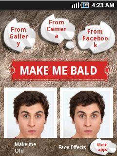 make me bald android app menu