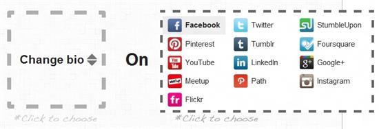 Multiple Social Account Editing