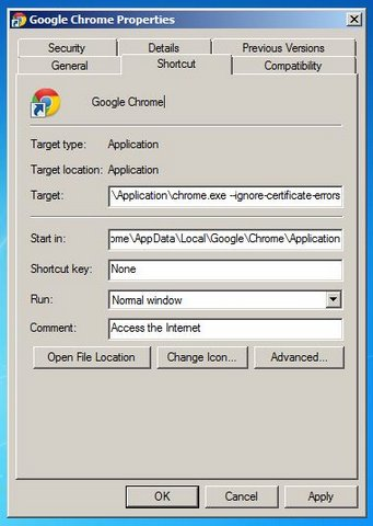 google chrome ssl error warnings