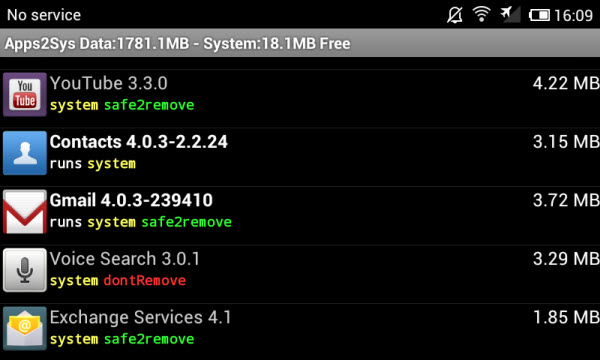 Uninstall Android System Apps