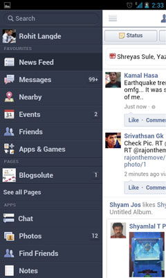 Facebook Mobile Browser Touch Version