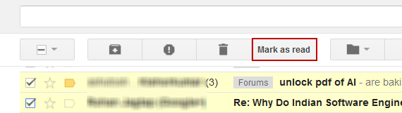 Mark as Read Button in Gmail