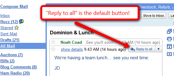 Reply to All in Gmail Lab