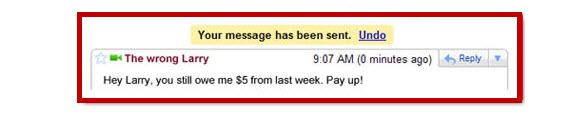 Undo Sending Mail on Gmail