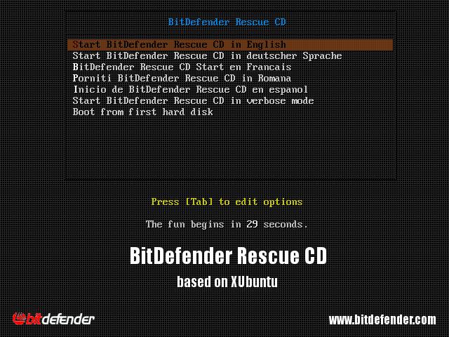 bitdefender rescue disk