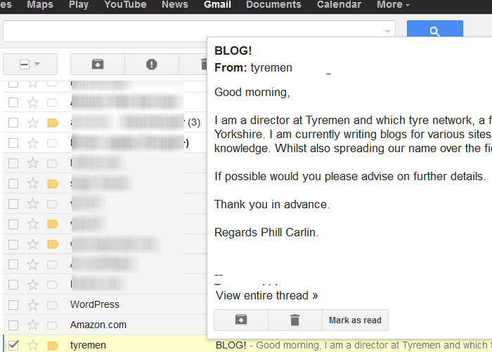 Preview Gmail Message Without Opening