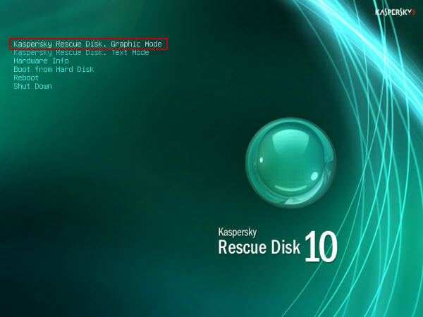 kaspersky rescue cd