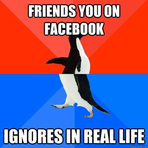 Ignore Facebook Friends in Real Life