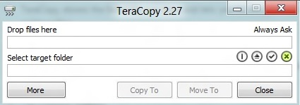 teracopy main window