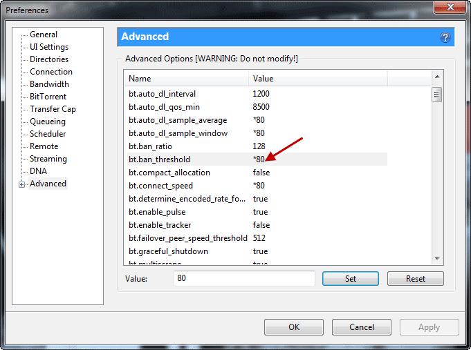 advanced utorrent tweaks