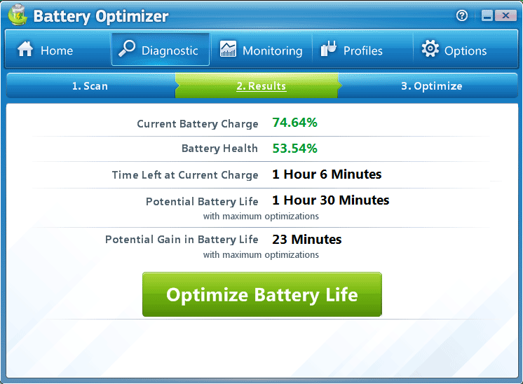 Laptop Battery Optimization Software Windows 7