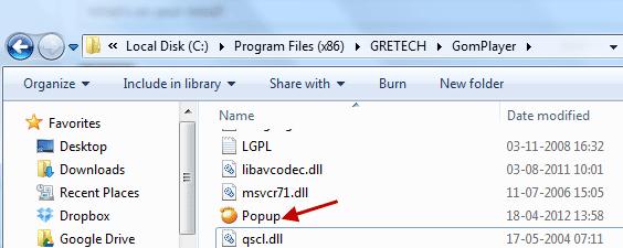 Remove GOM Player Pop-Up Advertisement Window
