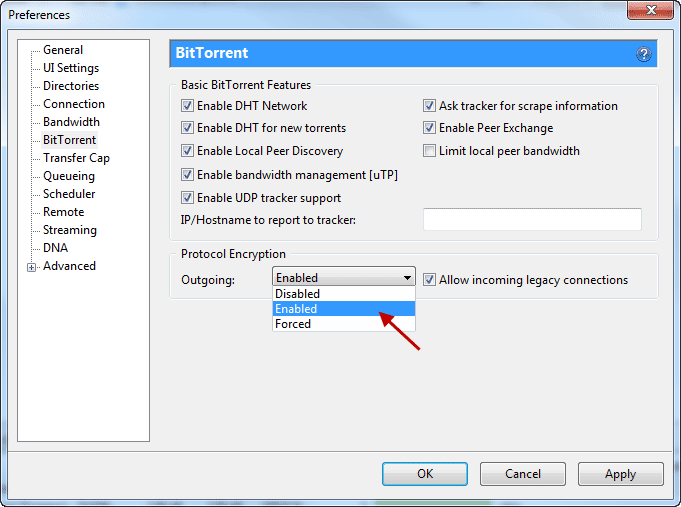 how to change bittorrent settings