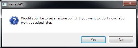 RefreshPC Restore Point