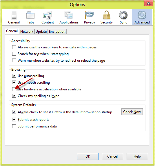 Fix Graphic Issues Firefox on Windows 8 Problem