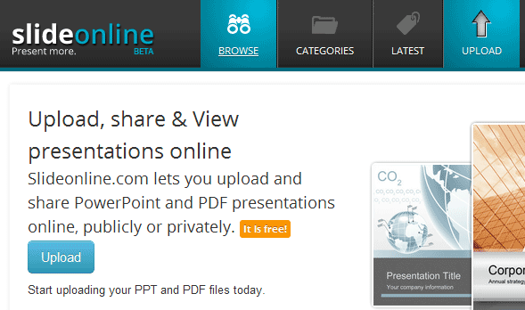 Upload Share PowerPoint Presentations Online