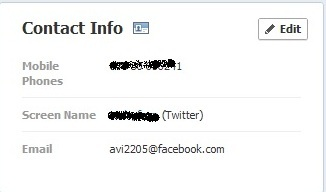edit facebook email