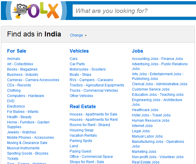 best classified ad websites in india