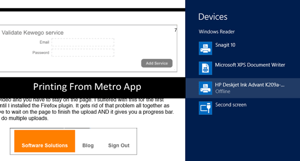 Print Metro Apps Windows 8