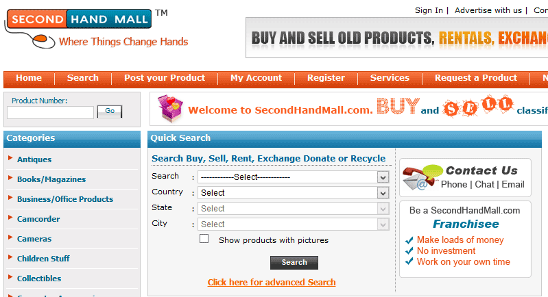 best sites to sell second hand used items online