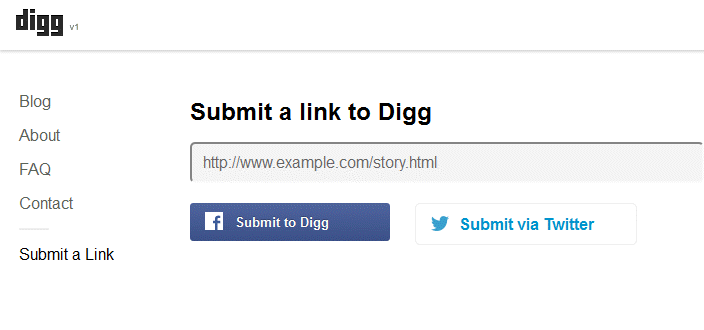 New Digg v1 Submit Link
