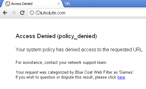 access denied by web filter