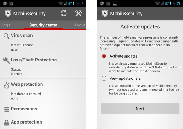 G Data MobileSecurity v2 Android Free 1 Year license