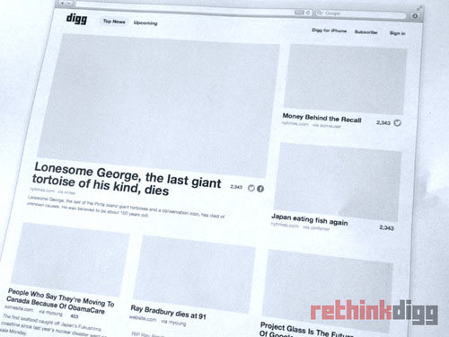 Digg v1 Design rethink
