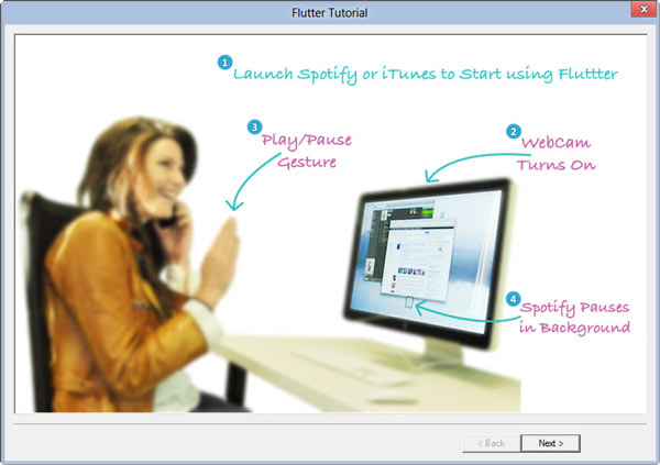 Control Media Player with Hand Gesture