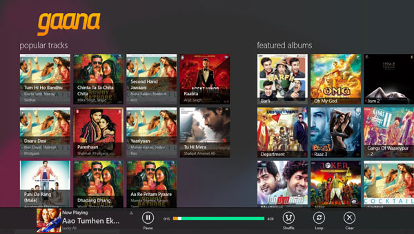 Listening Hindi English Songs Windows 8 app