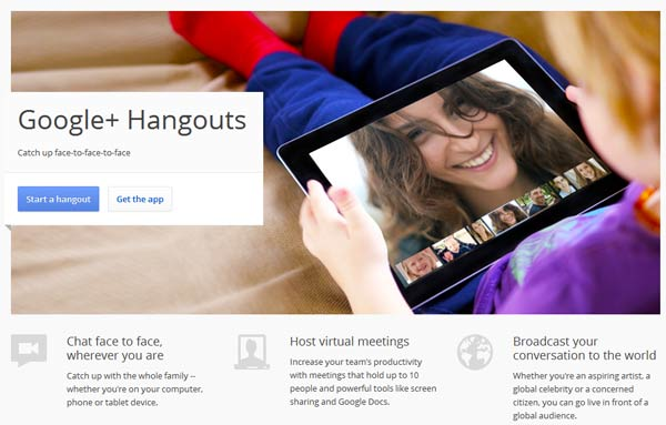 Google Plus Hangout - Video Conferencing without Software