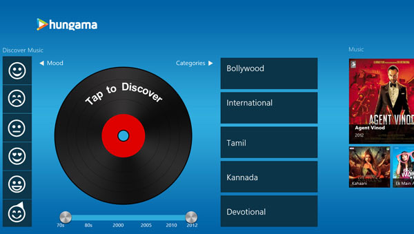 Listening Hindi English Music Windows 8 app