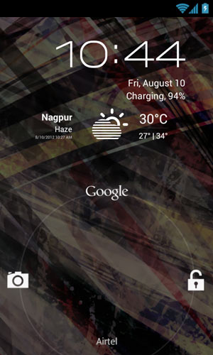 Android 4.1 jellybean Lockscreen