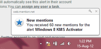mention chrome notifier