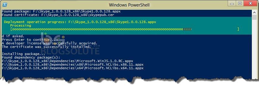 PowerShell App Installation Progress