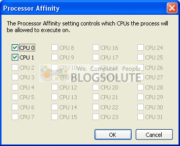 Processor Affnity - Windows Xp