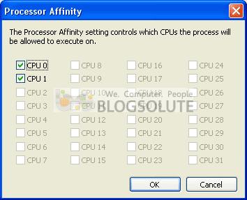 Processor Affnity - Windows Xp