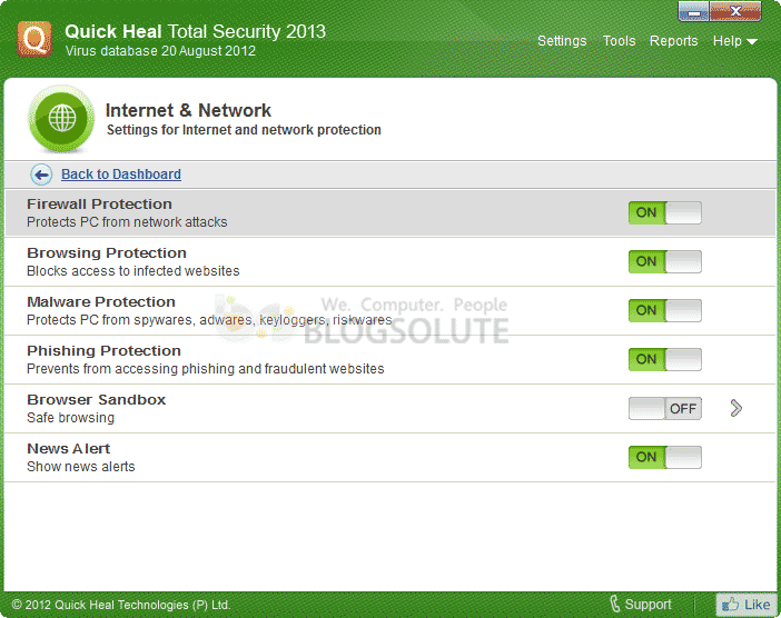 Quick Heal 2013 Offline Setup Download