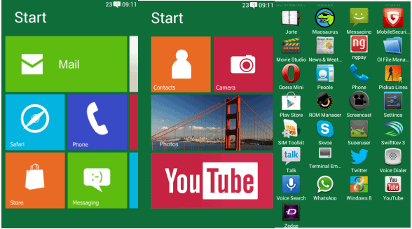 turn android tablet into windows 8