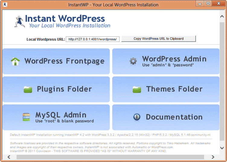 Install WordPress Portable on Windows