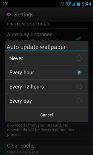Automate wallpaper change on Zedge Android